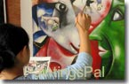 PaintingsPal Painter #2 with 5 years hand-on experience, specializing in oil paintings in abstract and contemporary styles, and has done herself more than 300 pieces of oil painting reproductions